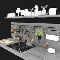 kitchen desk kit 3D model