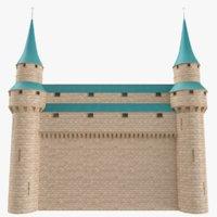 Castle Wall 02 3D Model