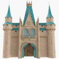 Castle Wall 01 3D Model
