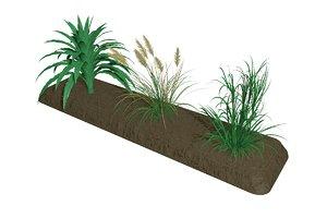 3D grass flora nature