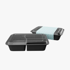 3D meal prep container