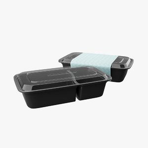 meal prep container 2 3D