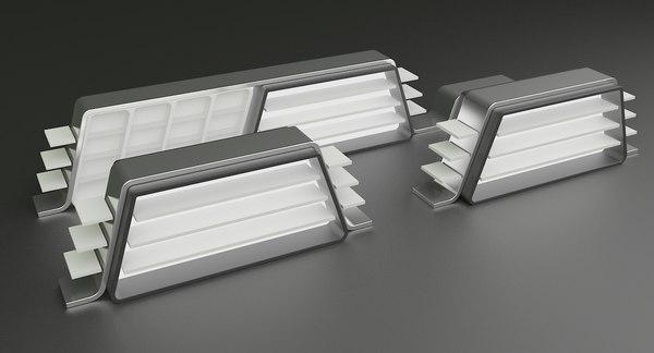 3D display stands model