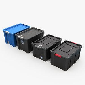 storage plastic bins 3D