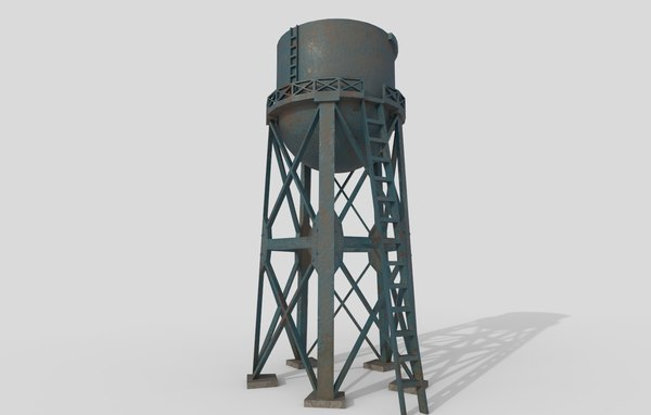 3D model water tank tower