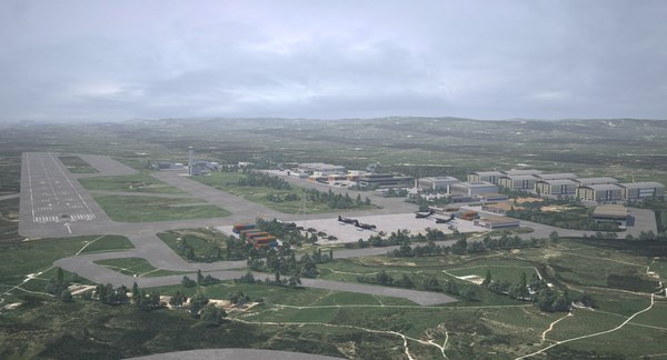 3D model airbase base air