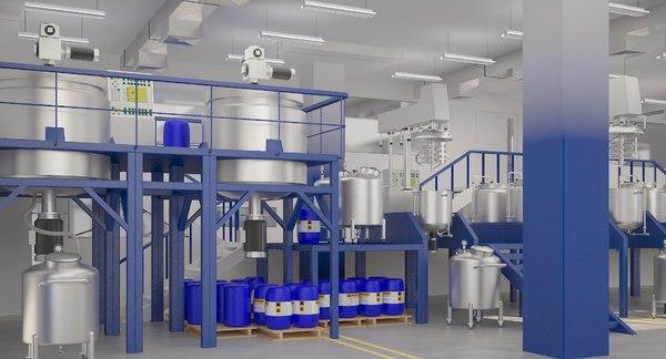 industrial natural cosmetics 3D model