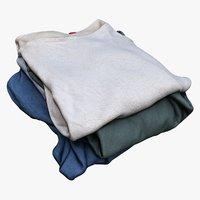 pile clothes 3D model