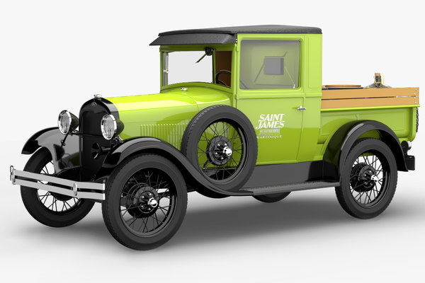 1928 pickup modelized 3D model