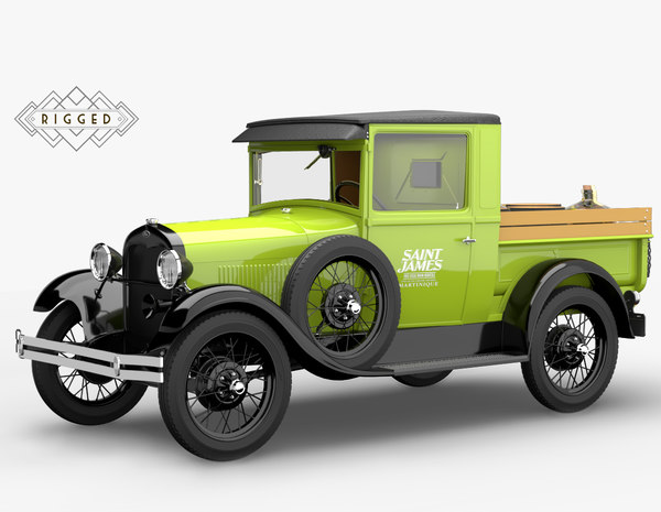1928 pickup rigged modelized 3D model