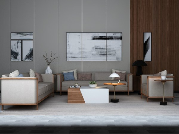interior living room pictures 3D model