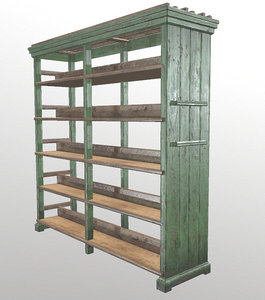 bookcase furniture 3D