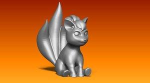 3D fox statue