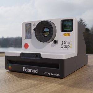 3D model polaroid 2 camera