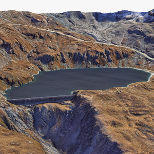3D mount reservoir dam model