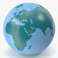 Earth Contour Geopolitical