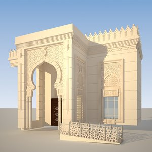 3D model mosque ornamental v-ray