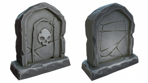 3D model cartoon stone