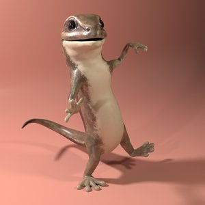 lizard cartoon 3D model