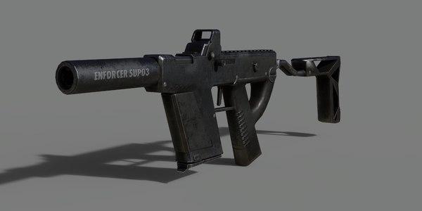submachine gun 3D