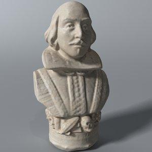 3D william shakespeare model