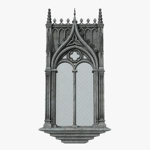 3D gothic window 04