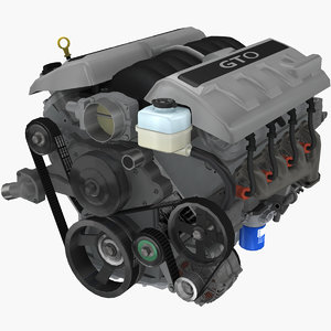 3D parts pontiac gto 2004 model