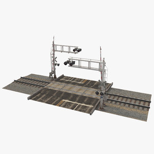 railroad crossing 3D model