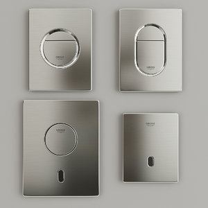 3D model flush buttons grohe