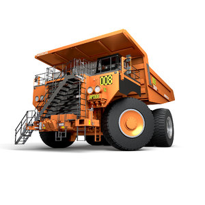 hitachi mining rigged 3D model