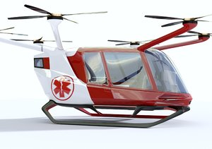 medical ambulance drone 3D model