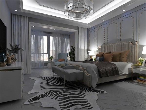 bedroom hotel 3D model