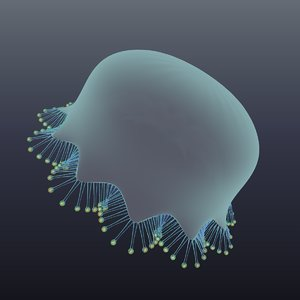3D model realistic jellyfish