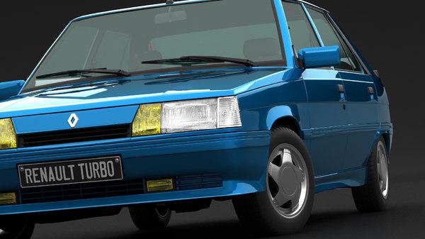 renault 11 turbo 3D