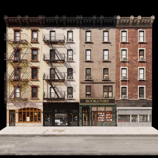 3D new york facades model