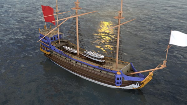 3D french frigate la sirene model