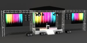 meeting stage 3D model