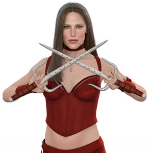 3D elektra natchios rigged model
