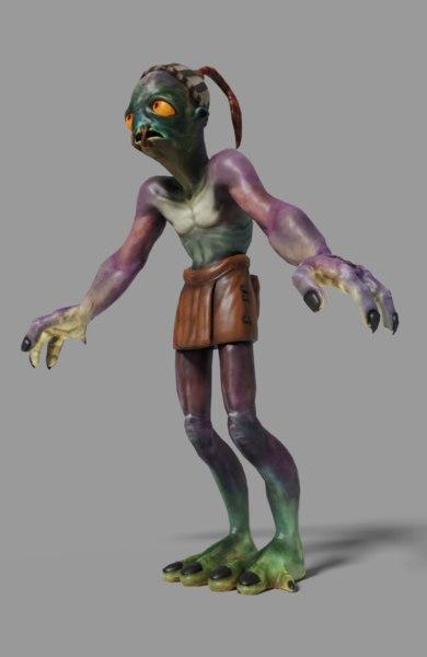 3D alien character model