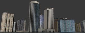 cityscape honolulu 3D