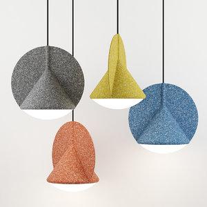 3D model felt pendant lamp stamp