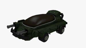 sci-fi battle 3D model