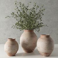 19 th c. terra-cotta olive jar