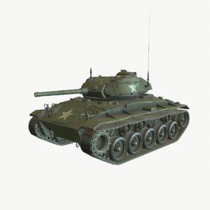 m24 chaffee light tank 3D