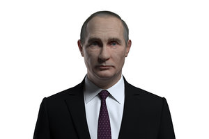 russian vladimir putin 3D