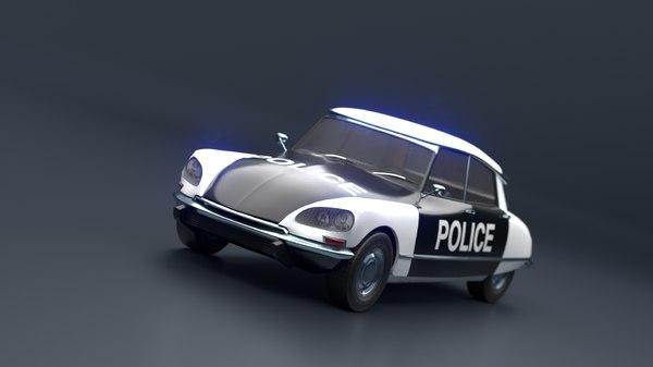 realistic retro car 3D