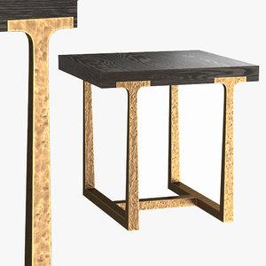 3D t-brace square table
