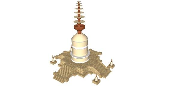 bhamala stupa 3D model