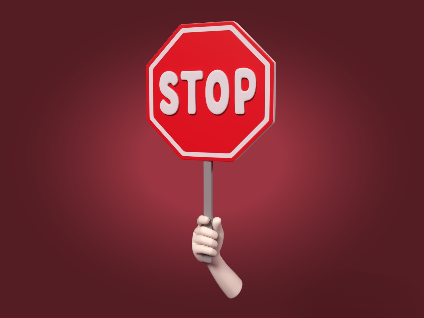 stop sign icon 3D