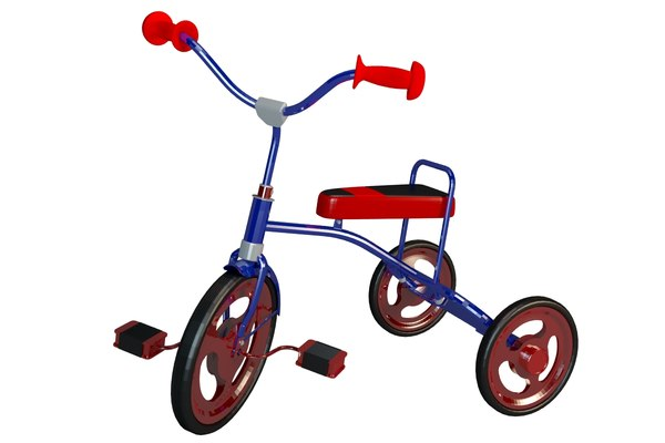3D tricycle kids model